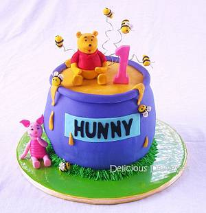 """Winnie the Pooh """"Hunny"""" Pot Cake - Cake by DeliciousDeliveries"""