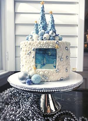 Snow Bauble Season - Cake by Dozycakes
