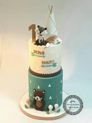 Nordic style for twins - Cake by Silvia Caballero