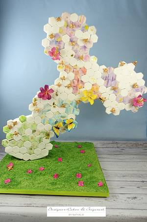 Honeycomb - Sweet Summer Collaboration - Cake by Designer-Cakes & Sugarart by Nathalie