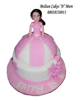 Barbie Doll Cake - Cake by Moltan Cakes 'N' More