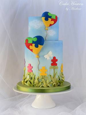 #SugarArt4Autism #AutismSweets - Cakes to raise Awareness - Cake by CakeHeaven by Marlene