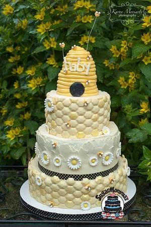 Baby Bee Shower Cake - Cake by SugarMommas Custom Cakes