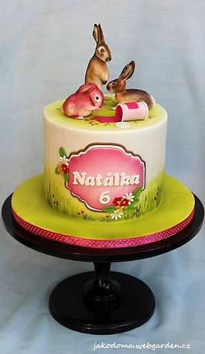 Pink Hare - Cake by Jana