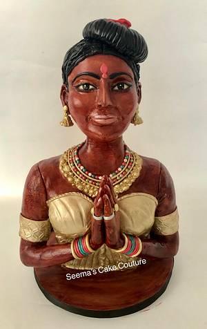 Carved in Wood - Beautiful Sri Lanka Collaboration  - Cake by Seema Tyagi