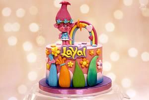 Trolls - Cake by Nimitha Moideen