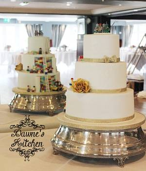 Lego Surprise Wedding Cake  - Cake by Dawne's Kitchen