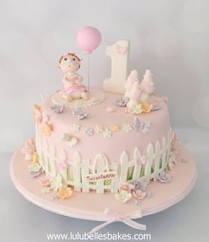Baby Girl turns 1! - Cake by Lulubelle's Bakes