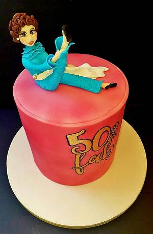 50 & fab cake - Cake by WhenEffieDecidedToBake
