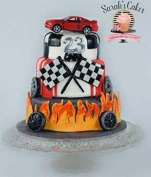 Mustang  cake - Cake by Sarah's Cakes
