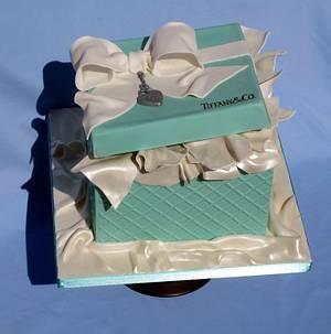 Tiffany box - Cake by Olga