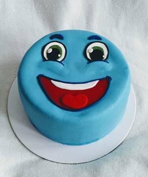 Blue emoticon - Cake by Anka