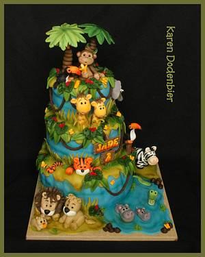 Deep in the jungle..... - Cake by Karen Dodenbier
