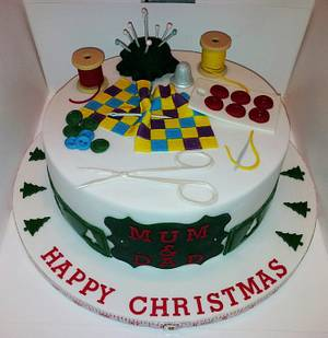 A right Christmas sew & sew.... - Cake by Jan