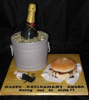 Champagne anyone? - Cake by Kazmick
