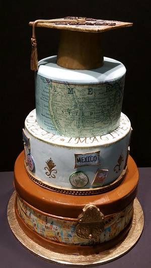 """Go Far"" Graduation Cake - Cake by eiciedoesitcakes"
