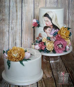 Diamond Jubilee of our dearest Sr. Latitia - Cake by Anna Mathew Vadayatt