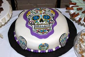 Day of the Dead Groom's Cake - Cake by Covered In Sugar
