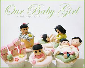 Our Baby Girl - Cake by Diana