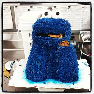 Cookie Monster - Cake by Bree